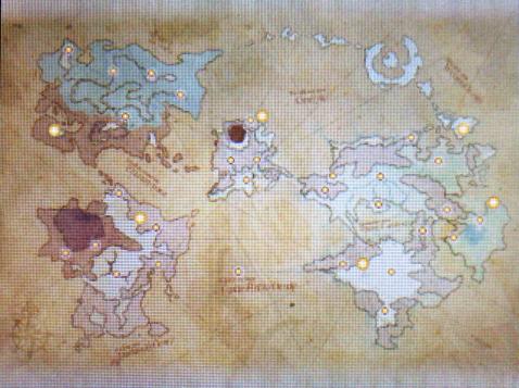 Bravely Default Dragon Map